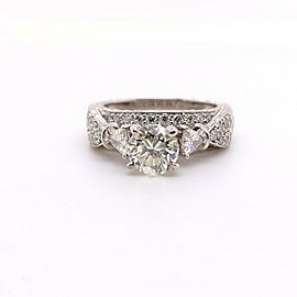 Shane Co. 1.75 TCW Round Brilliant Diamond Engagement Ring 14K