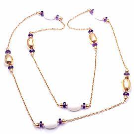 Bvlgari Bulgari Mediterranean Eden Sautoir 18k gold amethyst ceramic necklace