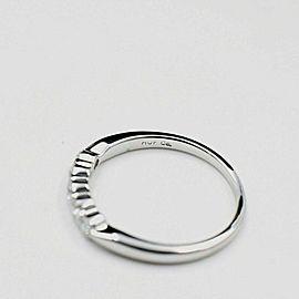 Hearts on Fire Diamond Wedding Band Ring 5 Stone 18k White Gold