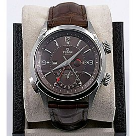 Tudor Heritage Advisor 79620 Titanium and Steel Leather Band Box Papers