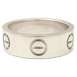 Authentic Cartier Love Ring Platinum PT950 #47 US4-4.5 HK9 EU47 Used F/S
