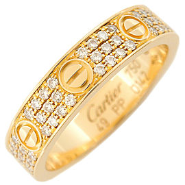 Cartier 18k Yellow Gold Pave Diamond Mini Love Ring