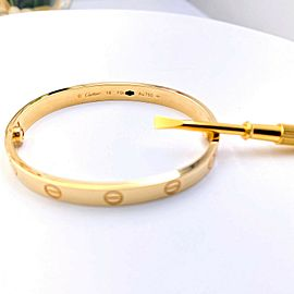 Cartier LOVE Bangle 18 kt Yellow Gold Certificate of Authenticity Boxes SZ 16