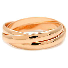 Authentic Cartier Trinity Ring K18 Rose Gold #53 US6.5-7 HK14.5 EU53.5 Used F/S