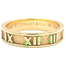 Authentic Tiffany&Co. Atlas Ring K18YG Yellow Gold US4.5 HK9.5-10 EU48 Used F/S