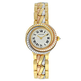 Ladies' Cartier Trinity 2357 18K Rose Yellow White Gold Diamond Quartz Watch
