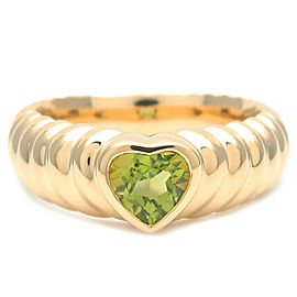 Authentic Tiffany&Co. Lived Friendship Ring Peridot 750YG US5.5-6 EU51 Used F/S