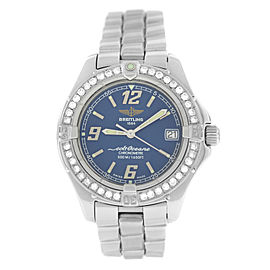 Ladies' Breitling Colt Ocean A57350 Steel Diamond Date Quartz 34MM Watch