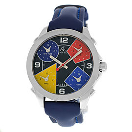 New Unisex Jacob & Co. Five 5 Time Zone JCM-11 Stainless Steel 40MM Watch