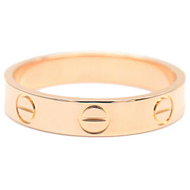 Authentic Cartier Mini Love Ring K18 Rose Gold #51 US5.5-6 HK12.5 EU51 Used F/S
