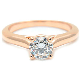 Auth Cartier Solitaire 1895 Diamond Ring 0.40ct Rose Gold #46 US3.5-4 Used F/S