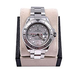 Rolex Yacht Master 16622 Silver Dial Platinum Bezel Stainless Steel