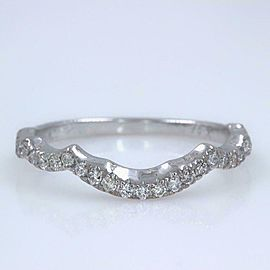 Neil Lane Round Diamond Contour Wedding Band 1/5 Carat 14 Karat White Gold #2