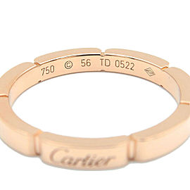 Authentic Cartier maillon panthère K18PG Gold #56 US7.5-8 EU56-56.5 Used F/S
