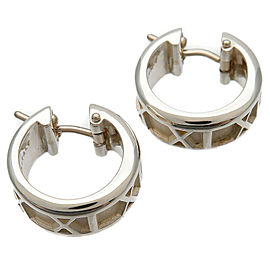 Authentic Tiffany&Co. Atlas Hoop Earring SV925 Silver Used F/S
