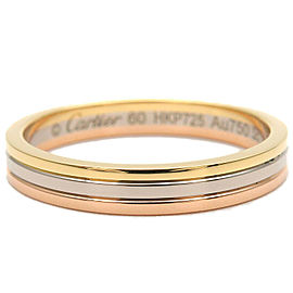 Authentic Cartier Three Color Ring K18 750 YG/WG/PG #60 US9-9.5 EU60 Used F/S