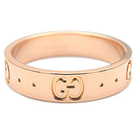 Authentic GUCCI ICON Ring K18 PG 750 Rose Gold #9 US4.5-5 EU49 Used F/S