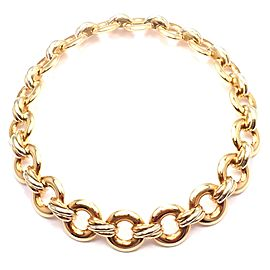 Cartier Trinity 18k Multi Color Gold Round Link Necklace