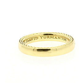 David Yurman Streamline 18K Yellow Gold 4mm_size 10 Men's Band Ring