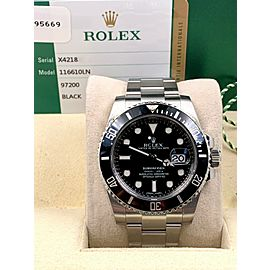 Rolex Submariner 116610 Black Dial Ceramic Bezel Stainless Box Papers 2016