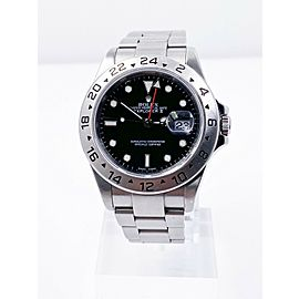 Rolex Explorer II 16570 Black Dial Stainless Steel UNPOLISHED 2004