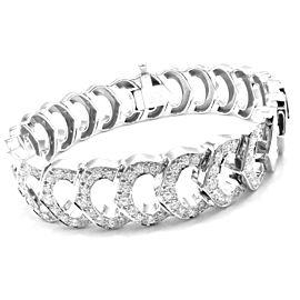 Cartier 18k White Gold C De Cartier Diamond Link Bracelet