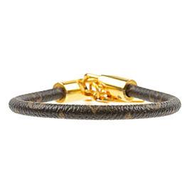 Authentic Louis Vuitton Monogram Bracelet Luck It Bangle M6605F Used F/S