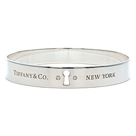 Authentic Tiffany & Co. Rock Bangle Bracelet Diamond Silver