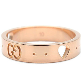 Authentic GUCCI ICON Amor Ring K18 PG 750 Rose Gold #10 US5-5.5 EU50 Used F/S