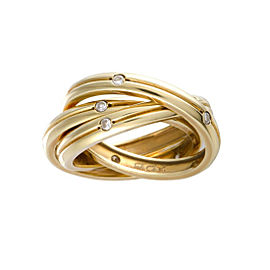 Cartier Trinity 18K Yellow Gold with Diamond Band Ring Size 6