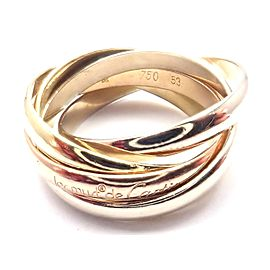 Cartier Trinity 18k Tricolor Gold 5 Band Ring Size 53