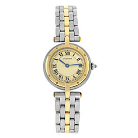 Ladies' Cartier Panthere Vendome 1057920 One Row Gold Steel Quartz 24MM Watch