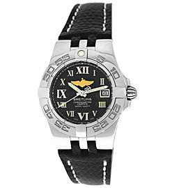New Breitling Galactic 30 A71340 A71340L2/M523 Steel Quartz 30MM Watch