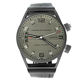 Porsche Design Worldtimer P6750 6750.10.24.1180 Titanium 45MM Watch