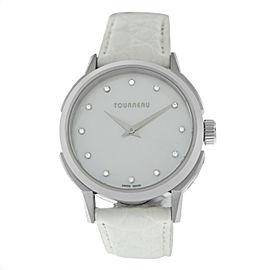 Tourneau TNY Roventa TNY350701010 Ladies Diamond MOP Steel 35MM Quartz Watch