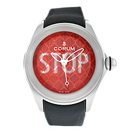 Corum Bubble STOP Dial 082.310.20/0601 ST01 Limited Edition Steel 47MM Watch