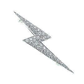 Marlene Stowe Diamond Lightning Bolt 0.85 tcw Brooch Pin in Platinum