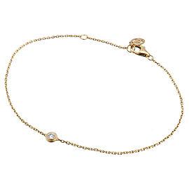 Auth Cartier Diamants Légers Bracelet XS 1P Diamond 0.04ct Yellow Gold Used F/S