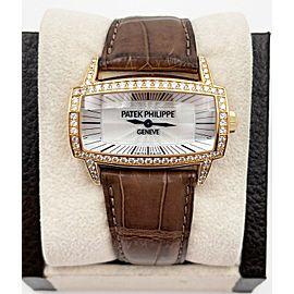 Patek Philippe 4991R Ladies Gondolo Gemma 18K Rose Gold with Leather Strap