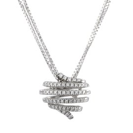 Damiani Eden 18K White Gold with 0.32ct Diamond Pendant Necklace