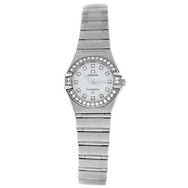 Omega Constellation Ladies 1460.75 Steel MOP Diamond Quartz 22MM Watch