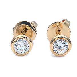 Auth Tiffany&Co. By the Yard Diamond Earrings 0.17ct×2 Yellow Gold Used F/S