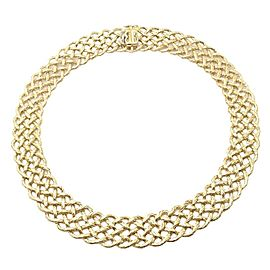 Authentic! Buccellati Crepe De Chine Wide 18k Yellow Gold Braided Link Necklace