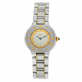 Cartier Must de Cartier 1340 Ladies Quartz Steel Gold 28MM Watch
