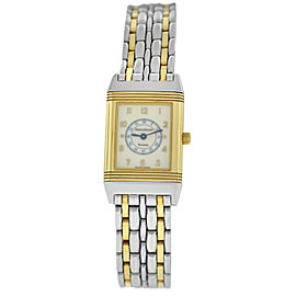 Jaeger-Lecoultre Reverso 260.5.08 18K Yellow Gold Steel 20MM Quartz Watch
