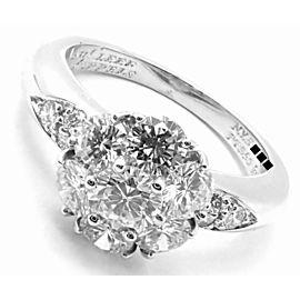 Van Cleef & Arpels Platinum Diamond Fleurette Flower Ring