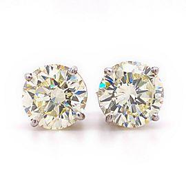 5.98 tcw Round Brilliant Diamond Stud Earrings 14kt White Gold Retail $65,000