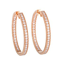 Odelia 18K Rose Gold Diamond Earrings