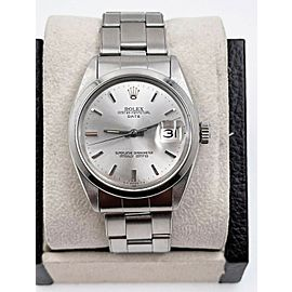 Rolex Date 1500 Silver Dial Stainless Steel Watch