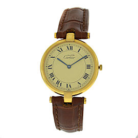 Cartier Must de Cartier Vermeil 590003 Silver Gold Plaque Quartz 30MM Watch